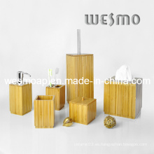 Cuarto de baño sanitario cuadrado de bambú coordinado (WBB0620A)