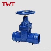 Válvula de compuerta elástica del zócalo del arrabio para el tubo del PVC