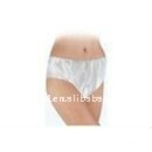 Nonwoven disposable women uniform thongs/ white pant with elastic arround