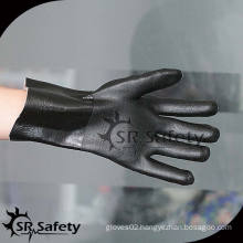 SRSAFETY heavy duty chemical resistant and slip resistant PVC gloves,China suppliers