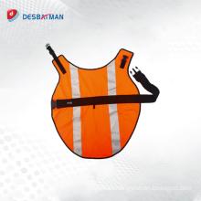 New fashion orange breathable Hi Vis reflective safety pet dog vest for wholesale