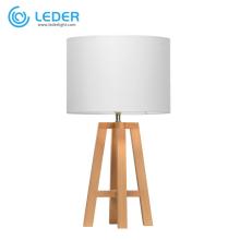 Lámpara de mesa de madera moderna LEDER