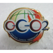 Offset Impreso Metal Lapel Pin Badge con Epoxy (badge-106)