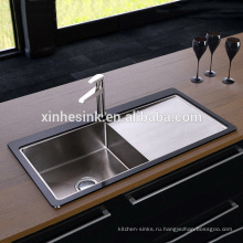 Высокое качество закаленное стекло из нержавеющей стали Кухонная раковина для Великобритании
