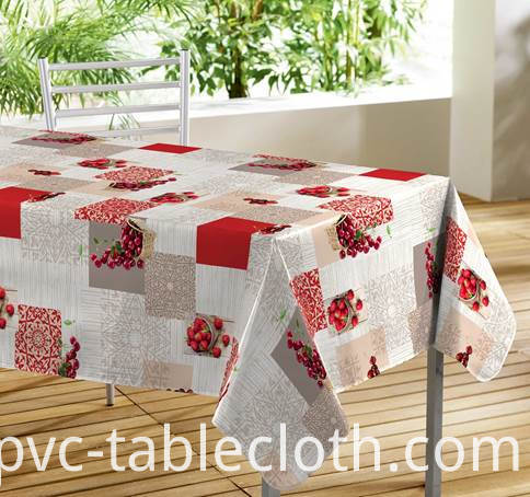 Printed Tablecloth With Non Woven Backing for European style