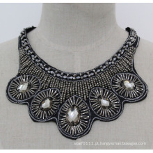 Senhora moda cristal chunky jóias colar gargantilha imitação de jóias (je0173)