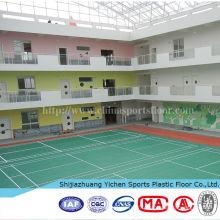 revêtement de sol en pvc pour l'utilisation du terrain de badminton