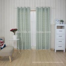 Nova chegada Modern Breve estilo 100% poliéster A pequena folha Jacquard cortina e tecido de cortina