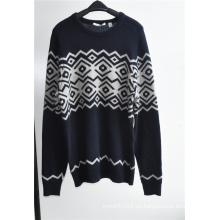 Manga de lana cuello redondo Knitting Hombre Sudadera