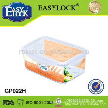 600ml Mikrowellen Borosilikatglas Lebensmittelbehälter mit Ventil