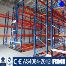 O aço do armazenamento do armazém de Nanjing Jracking submete o divisor do shelving da cremalheira da canela