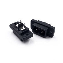 AC Power Socket 2.5A 250V 2 Pin Inlet Male IEC Extension Connector Electric Industrial Inlet Plug And Fuse Holder Sockets