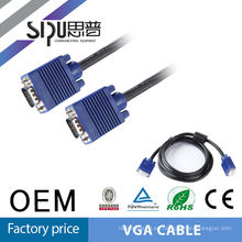 SIPU Cheap rs232 vga cable 15Pin Male to Male for Computers vga cable 3+2