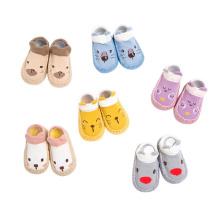 Knit Slipper Baby Socks With Leather Sole baby socks non slip Baby socks cotton
