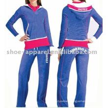 women velour track suit