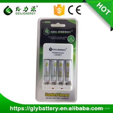 Geilienergy Brand GLE-C702 NIMH / NICD AAA AA 2.4V Cargador de batería