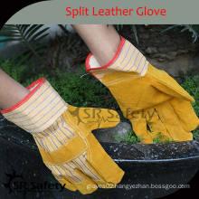 SRSAFETY Best cow split industrial leather gloves