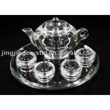 Crystal Tea Cup and Tea Pot Set (JD-CJ-002)