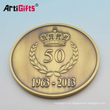 Personalizar los nombres de la boda preciosa y barata de oro antqu latón monedas en blanco