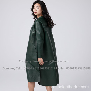 Lady Patent Leather Overcoat Long