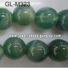 Round agate bead-green