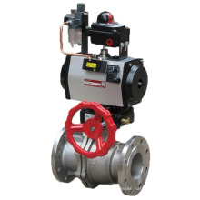 Flanged Ball Valve with Pneumatic Actuator