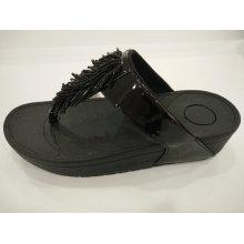 2016 Women Tassel Crystal PU Sandals Shoes, Slippers