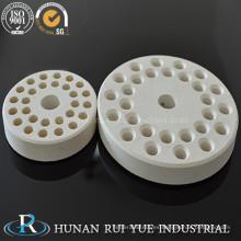 Placa de quemador de cerámica de alúmina refractaria industrial 99