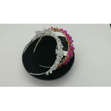 Wholesale Handmade Silver Crystal Pearl Wedding Hairbands Bridal Headpiece