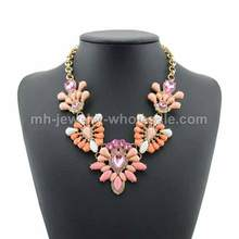 Charms Butterfly Shape Link Alloy Pieces Inlay Acrylic Necklace