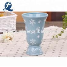 Big Mouth Vase Garden Display Stand Planter Ceramic Floor Pot