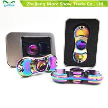 Rainbow Colors aleación de metal EDC Hand Fidget Spinner High Speed Focus Toy Gift