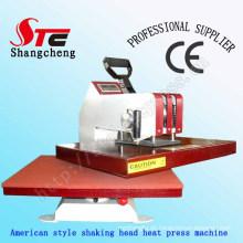 40 * 50 cm American Shaking Kopf Transferpresse Maschine Digitale Manuelle Schaukel Transferpresse Maschine American T-Shirt Wärmeübertragung Druckmaschine Stc-SD03