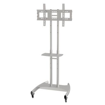 "Metal TV Stand / Trolley Sav 107 Wheelbase Telescopic Tube 30-60"" (SAV 107B)"