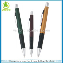 Logo customized promotional plastic roller ball pen with rubber grip