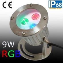 IP68 RGB светодиодный подводный прожектор, RGB светодиодный фонтан света