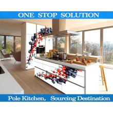 Gabinetes de cocina en forma de L 4D
