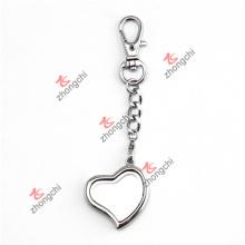 Moda metal senhora saco pingente encantos coração lockets chaveiro (chk50926)