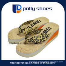 Sexy Leopard Grain Brown Slipper Flip Flop