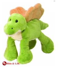 Juguete verde encantador promocional de la felpa del dinosaurio