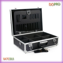 Wholesale Black Color Handle Portable Hairdresser Tool Box (SATC015)