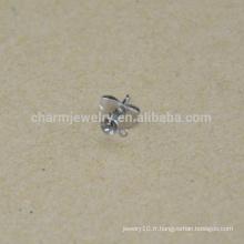 BXG042 Boucles d'oreille en acier inoxydable Boucles d'oreilles Fournitures de bricolage Retour Post Earnut