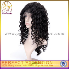 120 Density Italian Curl Remy Afro Curly Lace Trendy Short Wig