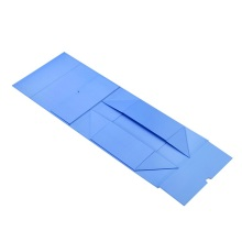 Magnetic flat light blue paper box