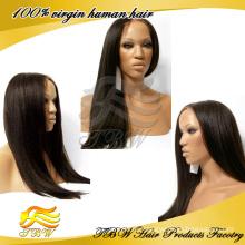 Новый стиль необработанные человеческих волос glueless полный парик шнурка,бразильский яки прямые парики шнурка