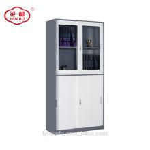 2018 top sliding glass door lower sliding steel door wardrobe office file cabinet