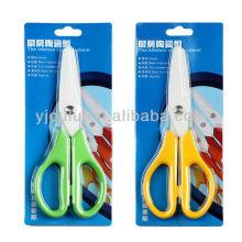 OL053 zirconia ceramic scissors with TPR handles