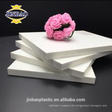 Jinbao weiße farbe 4x8ft 8mm 10mm pvc blatt pvc dekorative blatt