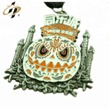 Custom enamel antique 3d metal running medals and trophies