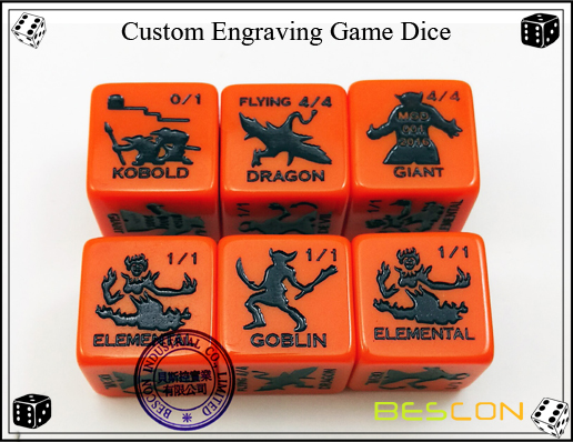 Custom Engraving Game Dice